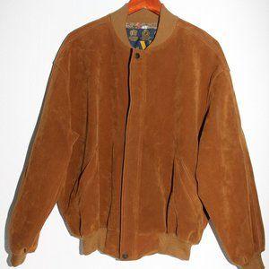 V Full Stop Golden Tan Men's Bomber Jacket Size L